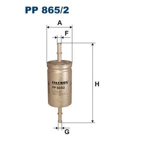 Filtro combustible PP 865/2 TOURNEO CONNECT 1.8 16V ac 2005