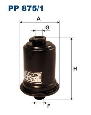 FILTRON  PP 875/1 Kraftstofffilter Höhe: 111mm