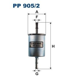 Fuel filter Height: 162,5mm with OEM Number 25 121 074