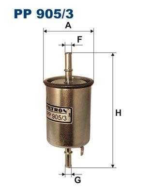 FILTRON  PP 905/3 Filtro combustible Altura: 148mm