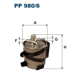 Fuel filter Height: 129mm with OEM Number 77 01 062 436