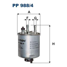 Kraftstofffilter PP 988/4 TWINGO 2 (CN0) 1.5 dCi 90 Bj 2015