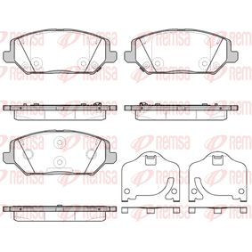 Brake Pad Set, disc brake Height: 59,7mm, Thickness: 19,8mm with OEM Number 58101G4A10