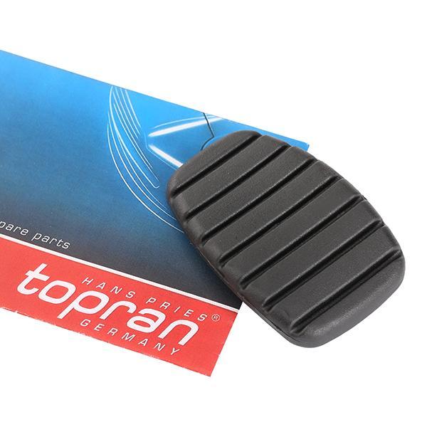 Revestimiento de pedal, pedal de freno 701 930 TOPRAN 701 930 en calidad original