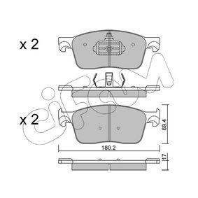 Bremsbelagsatz, Scheibenbremse Dicke/Stärke 1: 17,0mm mit OEM-Nummer 16 132 607 80