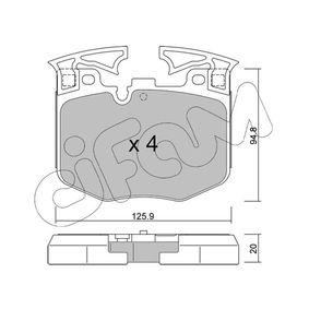 Bremsbelagsatz, Scheibenbremse Dicke/Stärke 1: 20,0mm mit OEM-Nummer 3411 6888 457