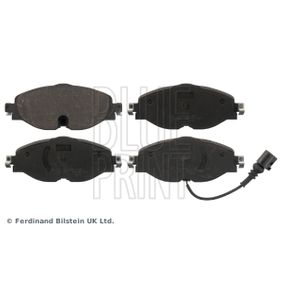Brake Pad Set, disc brake Width: 64,5mm, Thickness 1: 20,4mm with OEM Number 5Q0 698 151 G