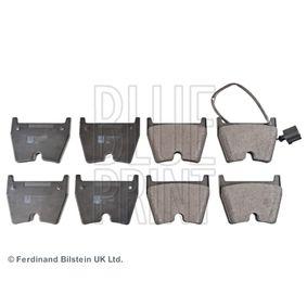 Brake Pad Set, disc brake Width: 74,3mm, Thickness 1: 15mm with OEM Number 8U0698151J
