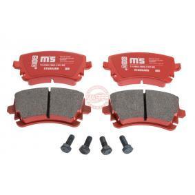 Bremsbelagsatz, Scheibenbremse Breite: 116,1mm, Höhe: 59,0mm, Dicke/Stärke: 17,4mm mit OEM-Nummer 4B3.698.451A