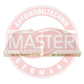 Filter, Innenraumluft Länge: 283mm, Breite: 203mm, Höhe: 29mm mit OEM-Nummer 4D0898438 A