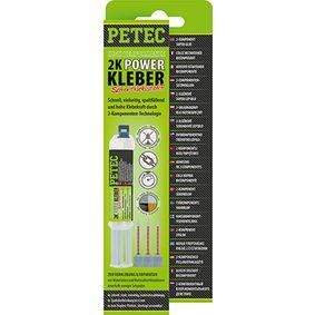 Adhesivo de uso general PETEC 93510 para auto (Cartucho, transparente, endurecible, pulible, rebarnizable, sin silicona, Contenido: 11ml)