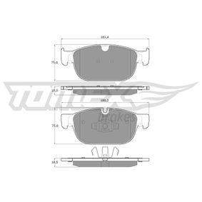 Bremsbelagsatz, Scheibenbremse Höhe: 75mm, Dicke/Stärke 1: 18mm, Dicke/Stärke 2: 18,5mm mit OEM-Nummer 3144597-6