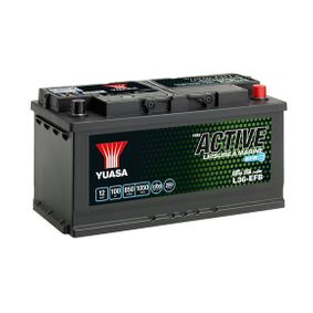 YUASA Nutzfahrzeugbatterien B3 , 100 Ah , 12 V , 850 A , mit Handgriffen, mit Ladezustandsanzeige