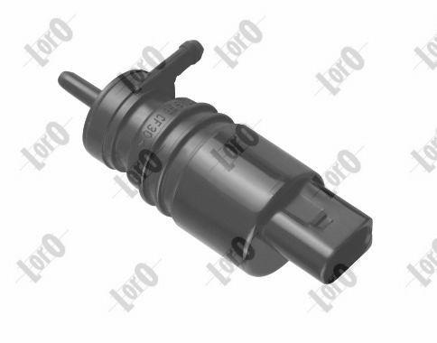 ABAKUS  103-02-004 Waschwasserpumpe, Scheibenreinigung Spannung: 12V, Pol-Anzahl: 2-polig