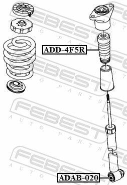 Manguito, amortiguador FEBEST ADAB-020 evaluación
