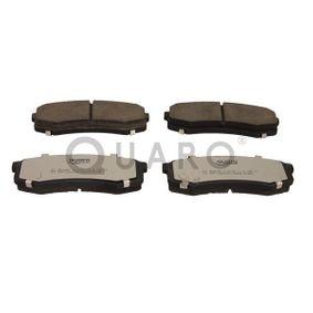 Bremsbelagsatz, Scheibenbremse Breite: 116mm, Höhe: 44mm, Dicke/Stärke: 15,5mm mit OEM-Nummer 04492-60020