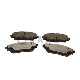 Brake Pad Set, disc brake Width: 142,1mm, Height: 55,6mm, Thickness: 15,8mm with OEM Number BHY1-33-28ZA 9C