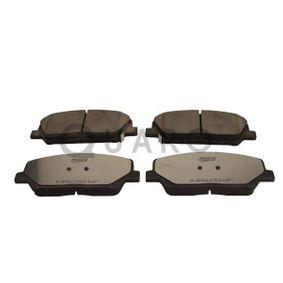 Bremsbelagsatz, Scheibenbremse Breite: 140,9mm, Höhe: 59,9mm, Dicke/Stärke: 17,3mm mit OEM-Nummer 581012MA00