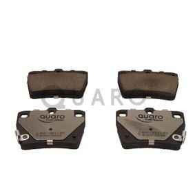 Brake Pad Set, disc brake QP6243C RAV 4 II (CLA2_, XA2_, ZCA2_, ACA2_) 2.0 4WD (ACA21, ACA20) MY 2005