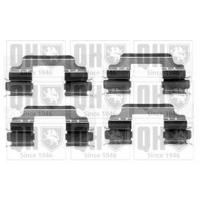 Renault Twingo 2 1.2 (CN0D) Zubehörsatz, Scheibenbremsbelag QUINTON HAZELL BFK942 (1.2 (CN0D) Benzin 2015 D7F 800)