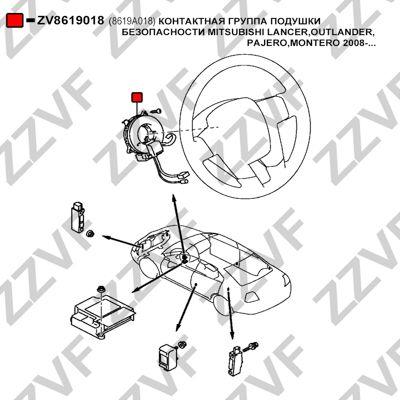 Muelle espiral, airbag ZZVF ZV8619018 conocimiento experto