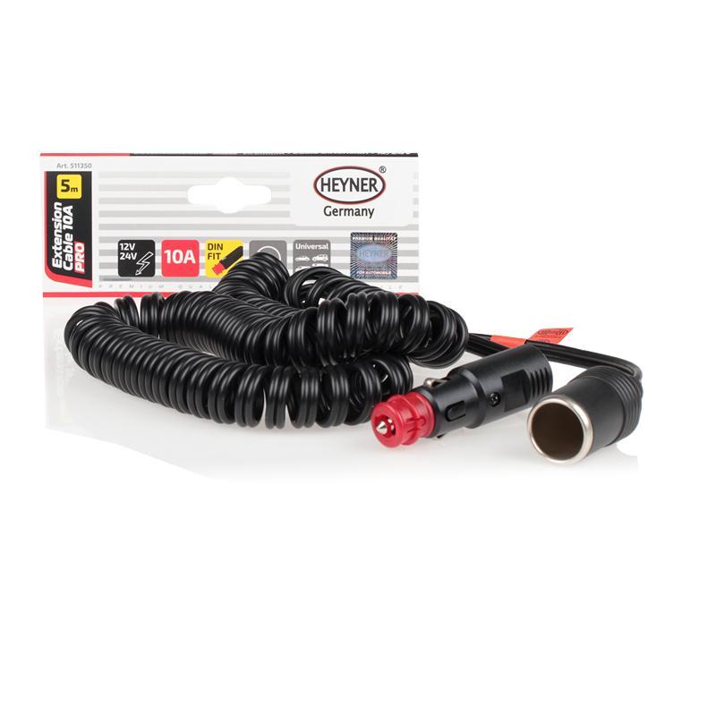 HEYNER  511350 Cablu de încărcare, brichetă Culoare: negru
