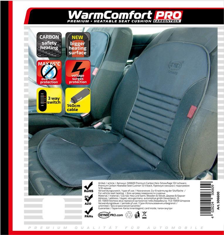 HEYNER WarmComfort Carbon 506600 Heated Seat Cover