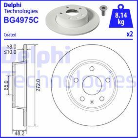 Bremsscheibe Bremsscheibendicke: 10mm, Ø: 272mm mit OEM-Nummer 6R0 615 601 B