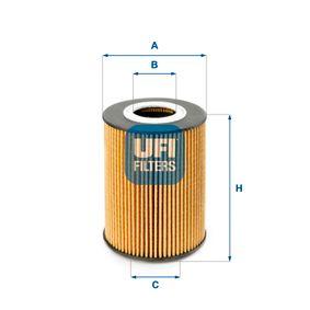 UFI  25.210.00 Ölfilter Ø: 83,0mm, Innendurchmesser 2: 35,0mm, Höhe: 108,0mm