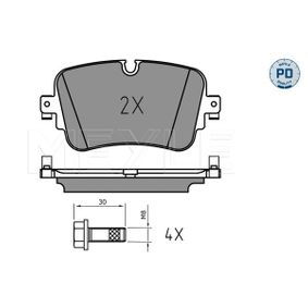 Brake Pad Set, disc brake Width: 129mm, Height: 65,3mm, Thickness: 17mm with OEM Number 4M0698451P