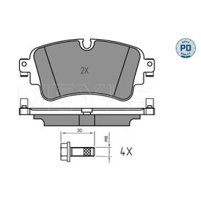 Brake Pad Set, disc brake Width: 129,2mm, Height: 59,1mm, Thickness: 17,3mm with OEM Number 8W0698451T
