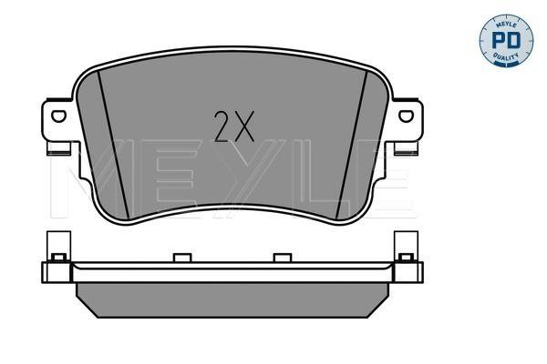 Комплект спирачно феродо, дискови спирачки MEYLE 22589 оценка