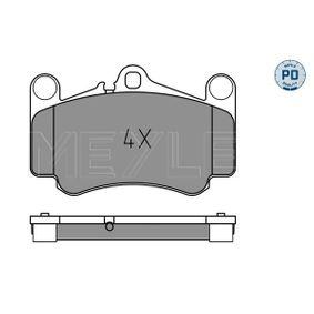 Bremsbelagsatz, Scheibenbremse Breite: 140mm, Höhe: 88,5mm, Dicke/Stärke: 16,8mm mit OEM-Nummer 996.351.949.12