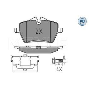 Bremsbelagsatz, Scheibenbremse Breite: 131,6mm, Höhe 1: 71,4mm, Höhe 2: 62,5mm, Dicke/Stärke: 18mm mit OEM-Nummer 34116778320