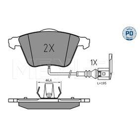 Bremsbelagsatz, Scheibenbremse Breite 1: 155,1mm, Breite 2: 156,3mm, Höhe: 72,9mm, Dicke/Stärke: 20,3mm mit OEM-Nummer 8J0698151A