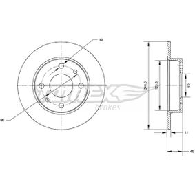 Brake Disc TX 70-04 PANDA (169) 1.2 MY 2014