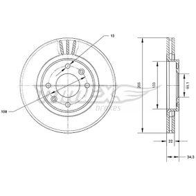 Bremsscheibe Bremsscheibendicke: 22mm, Lochanzahl: 4, Ø: 266mm mit OEM-Nummer 4249-83