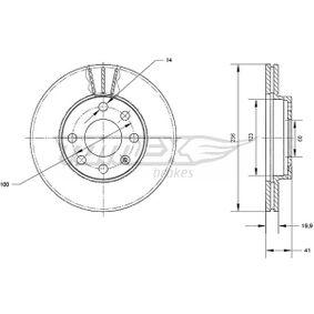 Bremsscheibe Bremsscheibendicke: 19,9mm, Lochanzahl: 6, Ø: 236mm mit OEM-Nummer 90 008 006
