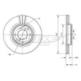 Bremsscheibe Bremsscheibendicke: 20,6mm, Lochanzahl: 4, Ø: 259mm mit OEM-Nummer 4020600Q0K