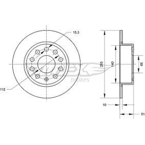 Bremsscheibe Bremsscheibendicke: 10mm, Lochanzahl: 9, Ø: 253mm mit OEM-Nummer 1K0 615601AB