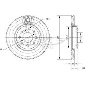Bremsscheibe Bremsscheibendicke: 20mm, Lochanzahl: 4, Ø: 257mm mit OEM-Nummer 51 749 124