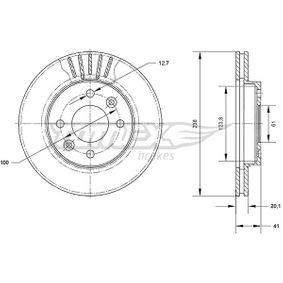Bremsscheibe Bremsscheibendicke: 20,1mm, Lochanzahl: 4, Ø: 238mm mit OEM-Nummer 7701 204 286