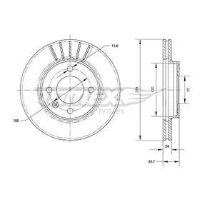 Bremsscheibe Bremsscheibendicke: 20mm, Lochanzahl: 4, Ø: 239mm mit OEM-Nummer 321 615 301 A
