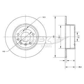 Bremsscheibe Bremsscheibendicke: 10mm, Lochanzahl: 5, Ø: 286mm mit OEM-Nummer 4 837 027