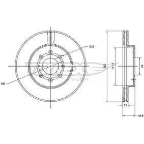 Honda Civic eu7 1.7 (ES1) Motorelektrik TOMEX brakes TX 70-68 (1.7 (ES1) Benzin 2005 D17A6)