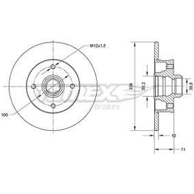 Bremsscheibe Bremsscheibendicke: 10mm, Lochanzahl: 4, Ø: 226mm mit OEM-Nummer 191.615.601B