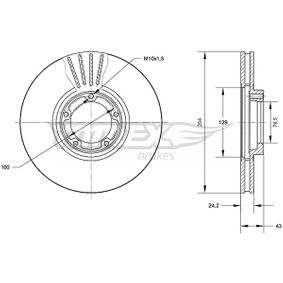 Bremsscheibe Bremsscheibendicke: 24,2mm, Lochanzahl: 5, Ø: 254mm mit OEM-Nummer 5025610