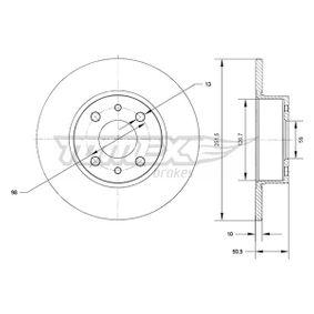 LANCIA Delta III (844) 1.4 Bifuel Bremsscheiben TOMEX brakes TX 70-89 (1.4 Bifuel Benzin/Autogas (LPG) 2012 198 A4.000)