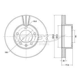 Bremsscheibe Bremsscheibendicke: 28mm, Lochanzahl: 5, Ø: 305,5mm mit OEM-Nummer 91 110 38