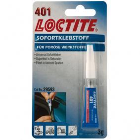 Adhesivo de caucho LOCTITE 230925 para auto (Tubo, Peso: 3g, incoloro, 3-10 sec.min)